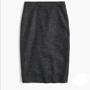 NWT J.Crew No.2 Pencil Skirt in Houndstooth Wool